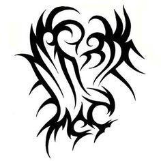 Very Nice Tribal Eagle Tattoo Stencil