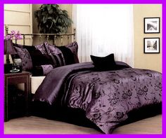 I think I've found it...this is it!! I love the purple/black...all black furniture with silver and crystal accents (frames, vases, etc).