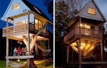 I am so filled with envy | Three-Story Tree House is a Dream Backyard Getaway | Designs & Ideas on Dornob
