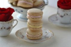 earl grey macarons with honey and rosewater buttercream