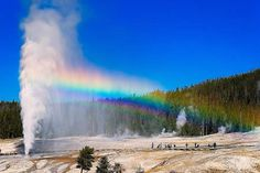 Geyser | Geyser is a kind of hot springs that burst periodically, removing the ...