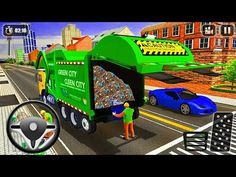 City Garbage Truck Driving Simulator - Dump Truck - Android Gameplay - YouTube