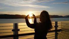 AIDAluna Clubschiff - Sonnenuntergang auf der Norwegen Kreuzfahrt von Tanja