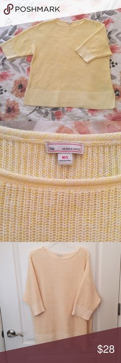 NWOT GAP Yellow Oversized Sweater Comfy and cozy pale yellow sweater from Gap. Never worn, in perfect condition. GAP Sweaters