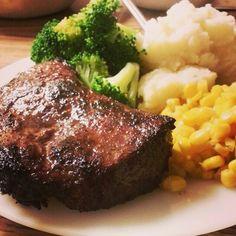 Homemade dinner before I went back to school! :) 10-13-13