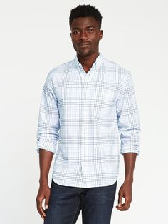 Summer Family Portraits, Shop Old Navy, Button Down Collar, Work Wardrobe, Oxford, Men Casual, Slim, Long Sleeve, Fitness