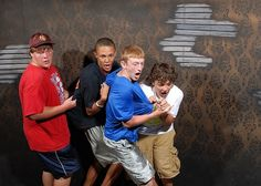 People Pulling Other People's Shirts at the Scariest Part of a Haunted House | Tosh.0 Blog