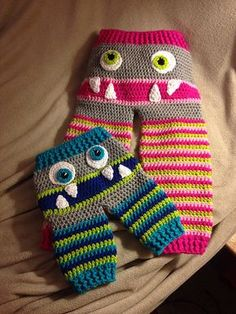 Crochet Monster Trousers Pants Baby Toddler Pattern