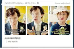 """""""If someone would move Mrs. Hudson's glass *slightly* out of reach that would be wonderful"""""""