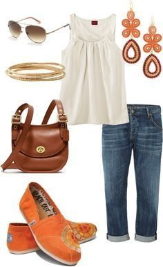 Love it all, especially the jeans and shoes. Like the cut/style of the top, but not the color.