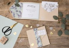 DIY - Homemade wedding invitations