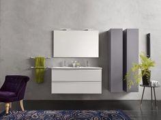 Laminate bathroom cabinet / vanity unit URBAN Urban Collection by INDA®