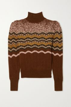 Brick Pipo Fair Isle alpaca-blend turtleneck sweater | Vanessa Bruno | NET-A-PORTER