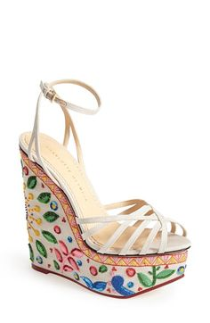 Charlotte Olympia 'Meredith' Platform Wedge Sandal (Women) available at #Nordstrom