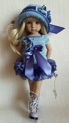 "OOAK Outfit for doll 13"" Dianna Effner Little Darling hand made 