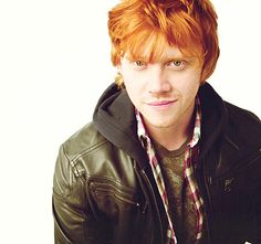 Rupert grint, scruffy ginger (;  I totally have a crush on him. He's just so adorable.