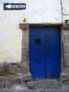 Blue door. Peru