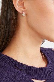 Marc JacobsFlamingo gold-tone enamel earrings