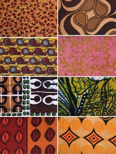 African fabrics come in a wide array of weaves, textures, colors and designs with vibrant geometrics and bold golden accents. These unique textiles often repeat a single symbol, representing security and continuity, as well as meaningful proverbs or historical events.
