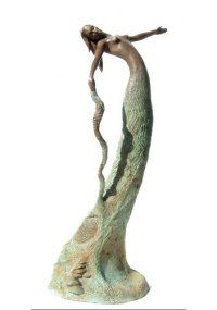 Abstract Sculpture by sculptor artist Jonathan Hateley titled: 'Mother Nature' in Bronze