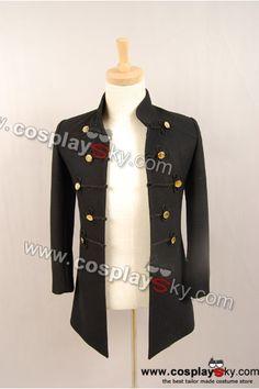 Twilight New Moon Volturi Alec Black Coat Costume