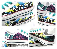 Hand Painted MGMT Custom Converse Sneakers by LittleRaisinCustoms, $50.00