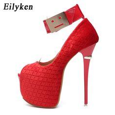 Women's Pumps, Pump Shoes, Shoes Heels, Types Of High Heels, Open Toe High Heels, Red Wedding, Stiletto Heels, Peep Toe, Fashion Accessories