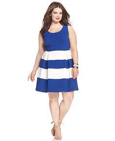 Soprano Plus Size Colorblocked Skater Dress - Plus Size Sale & Clearance - Plus Sizes - Macy's