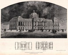 Design for the new Stock Exchange Building, Budapest