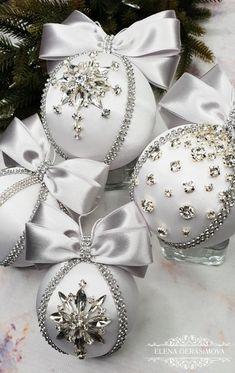 Shabby chic rag balls Christmas Wedding Home decor set5