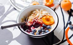 Coconut Flour Porridge With Roasted Apricots [Vegan, Gluten-Free]