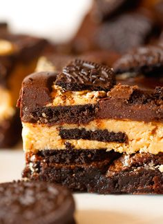 Ultimate Chocolate and Peanut Butter Brownies by Deliciously Yum!