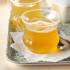 Lemon Thyme Green Tea Recipe -Fresh sprigs of lemon thyme make this citrusy tea so refreshing that it's like sipping summer from a cup. In our family we like to drink it on the porch, while enjoying the warm weather. —Melissa Pelkey Hass, Waleska, Georgia