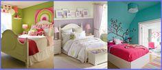Tendencias de combinación de colores para dormitorios juveniles.