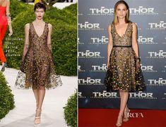 Natalie Portman In Christian Dior Couture - 'Thor The Dark World' Paris Premiere
