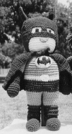 Free Crochet Pattern:  Batman Doll by craftbits (shellie wilson)