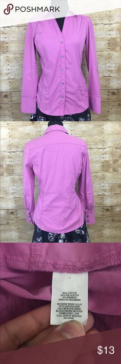 Fitted express button down Gorgeous color light wear no stains or tears Express Tops Button Down Shirts