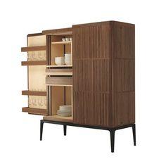Armoire contemporaine en bois veiné