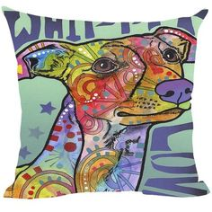 Whippet Series Pillow Covers - Dean Russo Art