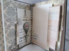Smash Book Junk Journal Mixed Media Art Journal Vintage Scrapbook Diary Writing Journal Photo Album by Island Lilly Designs. $48.00, via Etsy.