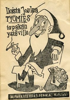 Tupakkatehdas Fennia #joulupukki #savukkeet #cigarettes #Christmas Christmas, Art, Xmas, Art Background, Kunst, Navidad, Noel, Performing Arts, Natal