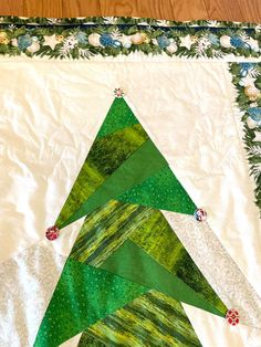 """Wall Christmas tree 28"""" x 78"""" Wall Christmas Tree, Christmas Time, Babies First Christmas, Tree Skirts, Etsy Shop, Quilts, Holiday Decor, Star, Home Decor"""