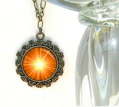 Orange Jewelry Chakra Necklace Reiki Energy by primalpainter, $25.00