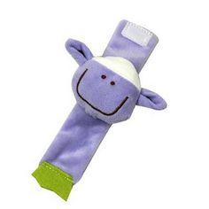 1Pcs Baby Bee Rattles Monkey Mobiles Kids Cartoon Baby Plush Wrist Strap Sheep Toys 0-12 Months Children Infant Newborn Animal
