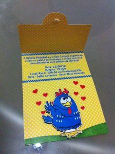 Convite Galinha Pintadinha | FÁBRICA DE IDÉIAS - Produtos personalizados | Elo7