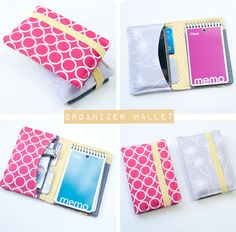 Sewing Crafts To Make and Sell - Wallet Organizer - Easy DIY Sewing Ideas To Make and Sell for Your Craft Business. Make Money with these Simple Gift Ideas, Free Patterns, Products from Fabric Scraps, Cute Kids Tutorials Sewing Hacks, Sewing Tutorials, Sewing Patterns, Sewing Ideas, Free Tutorials, Quilting Patterns, Fabric Crafts, Sewing Crafts, Sewing Projects