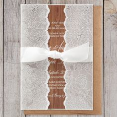 Sheer Wrap with Bow by B Wedding Invitations