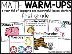 """Jumpstart your math lesson with these ready-to-go engaging math talks!  Fun math warm-ups or lesson starters for guided math lessons.  Kindergarten, first grade, second grade, and third grade math chats and number talks for every day of the year!  For a deeper look visit """"Let's Discuss Math Warm-Ups"""" at www.tunstallsteachingtidbits.com"""