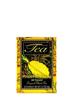 Pineapple Waikiki Black Tea 20 Tea Bags Tropical Flavored All Natural by Hawaiian Islands Tea Company * You can get additional details at the image link.