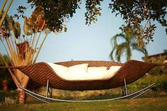 Modern Outdoor Daybed Furniture Design, Sculptural Collection by Neoteric Luxury, Foglia Rocker « Products « Design Images, Photos and Pictures Gallery « DESIGN WAGEN Outdoor Daybed, Outdoor Wicker Furniture, Outdoor Decor, Outdoor Spaces, Outdoor Sofas, Wicker Sofa, Outdoor Landscaping, Outdoor Lounge, Outdoor Seating
